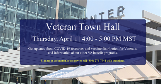 Vet Town Hall graphic